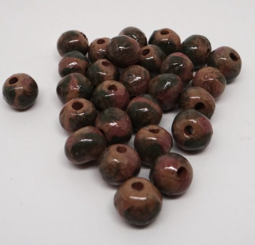 Brown Green Light Pink Small Spacer Bead