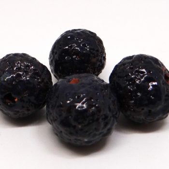 Midnight Blue Lava Texture Ceramic Beads