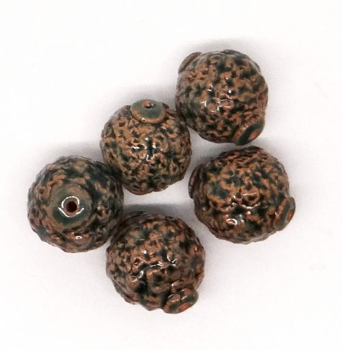 Lava Green Ceramic Beads