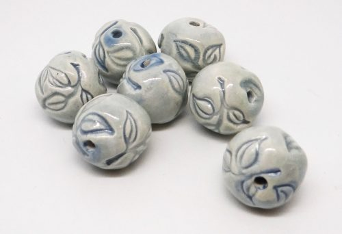 Baby Blue Leafy Beads