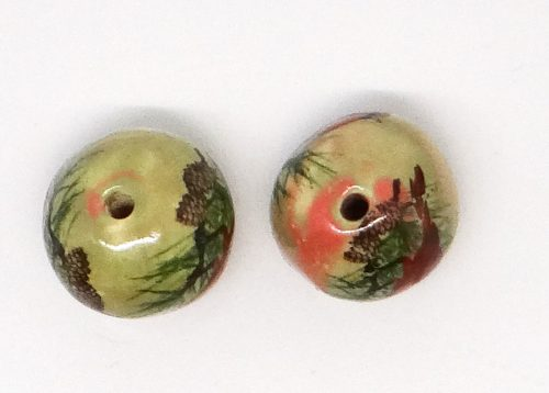Double Cardinal Bird Beads